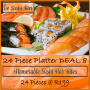 Takeaway DEAL 8:  24 Piece Salmon & Prawn Platter Special